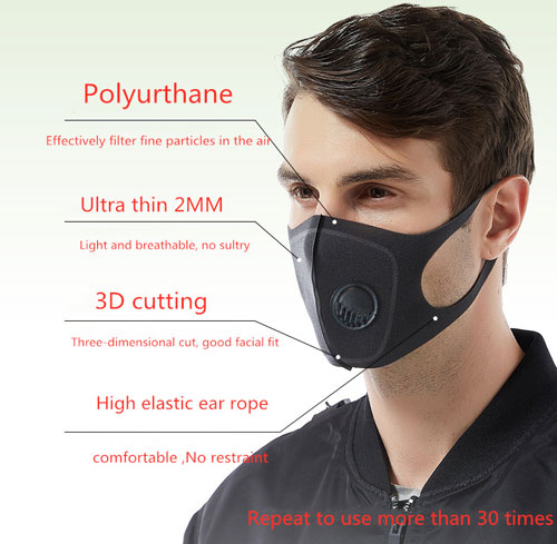 SafeMask Mask a guy wearing it